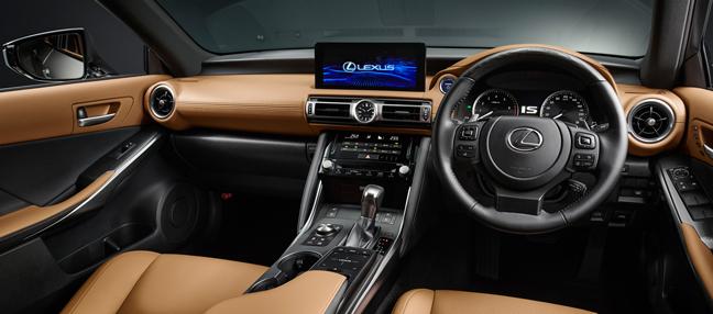 """新型レクサスIS300h""""version L""""(インテリアカラー:オーカー)<オプション装着車>のシート"""
