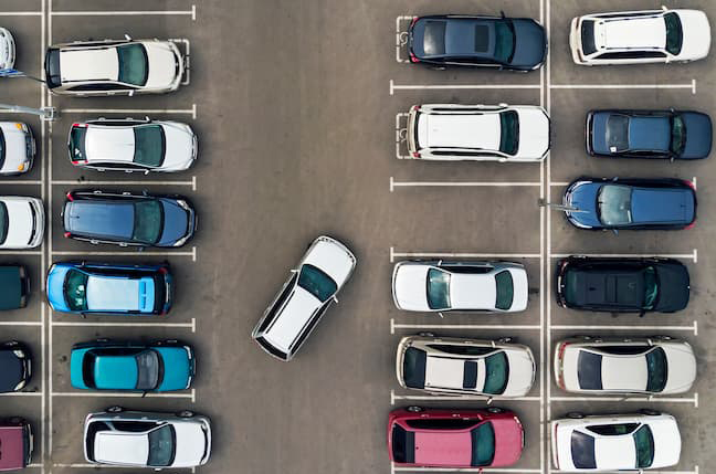 駐車場 上空からの写真