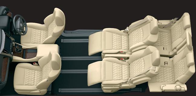 アルファードのリラックスキャプテンシート(7人乗り・セカンドシート)スーパーリラックスモード