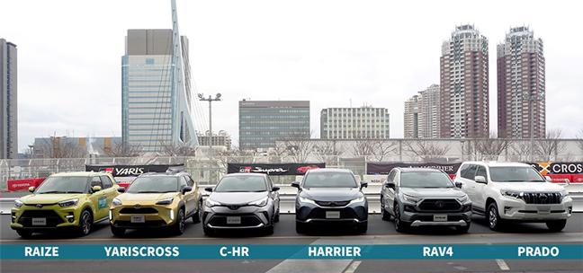 ヤリスクロス・C-HR・ライズの大きさを比較 フロント