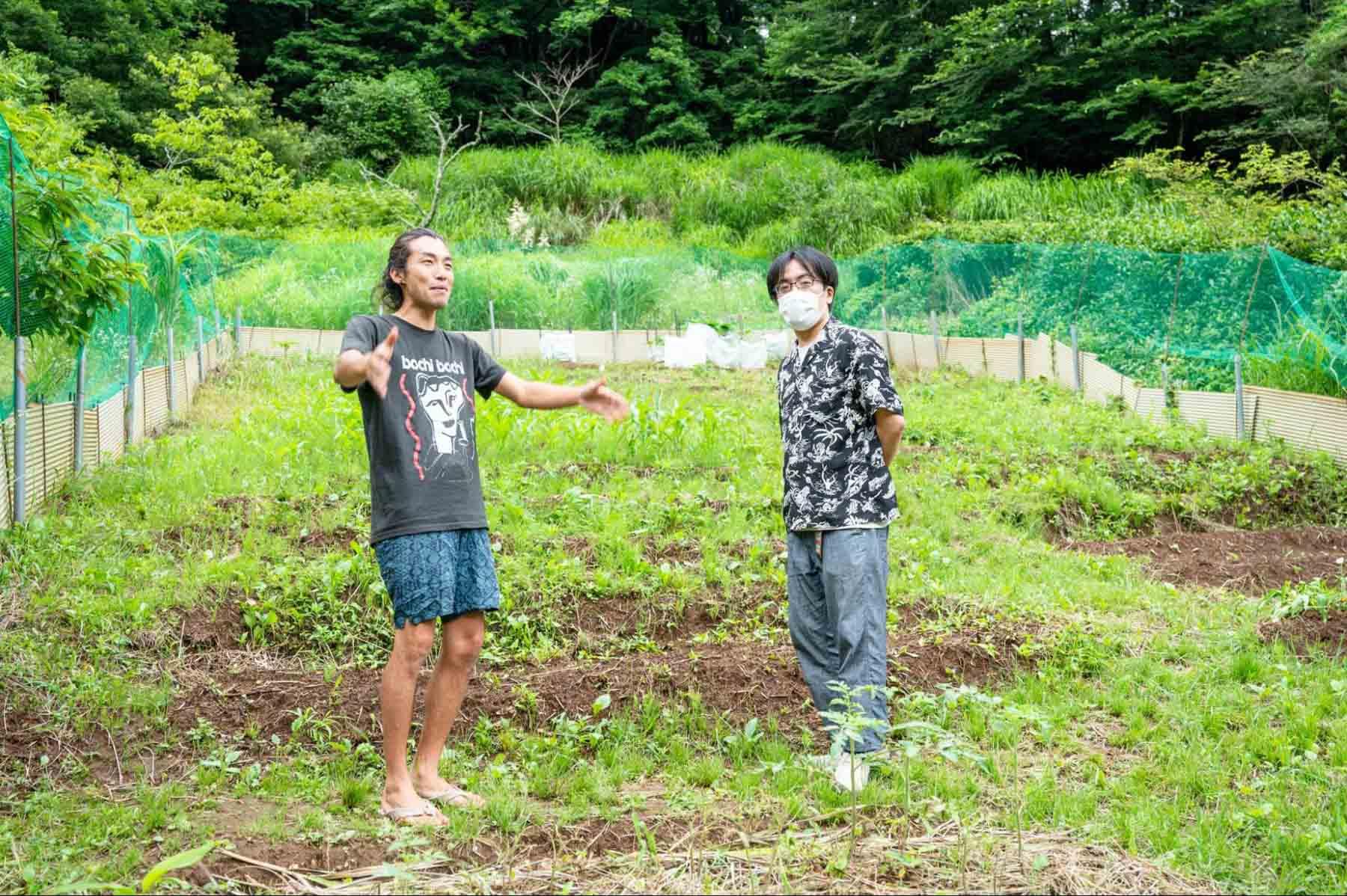 モバイルヴィレッジぼちぼちの畑の様子