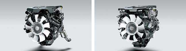 新型ランドクルーザー(300シリーズ)のV6 ガソリン ツインターボエンジンとV6 ディーゼル ツインターボエンジン