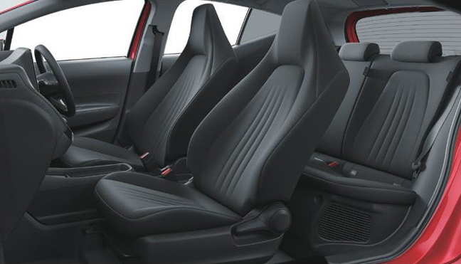 新型アクアXのシート(2WD 内装色:ブラック)<オプション装着車>